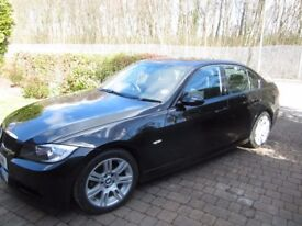 BMW 320D M Sport, 07, 4Door Saloon, Black, Diesel, 59KMiles, FSH, Parking Sen, Excellent Cond *Leeds