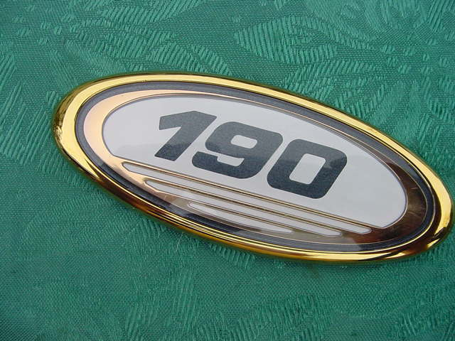 "SEA RAY BOAT 190 GOLD EMBLEM NEW 4"" X 1-5/8"" FOR HULL SIDE GENUINE RARE FIND"