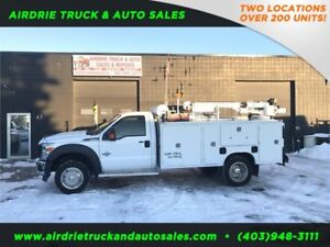 2012 Ford Super Duty F-550 DRW Service Body 3202 Auto Crane !!