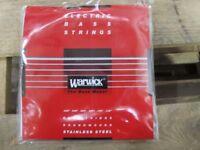 Warwick steel wound bass strings £7