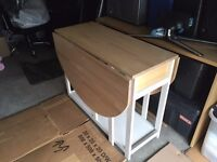 IKEA Drop leaf Table + 4 Chairs in While