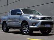 2018 Toyota Hilux GUN126R SR5 Double Cab Silver 6 Speed Sports Automatic Utility Maddington Gosnells Area Preview