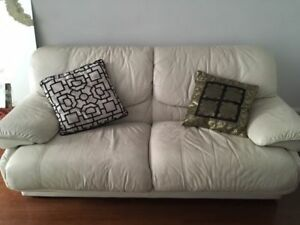 Worn White Leather Couch (MUST GO!)