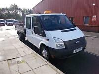 Ford Transit T350 LWB DOUBLE CAB TIPPER TDCI 100PS DIESEL MANUAL WHITE (2013)
