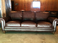 Italian Genuine Leather Couch- Retails $2500