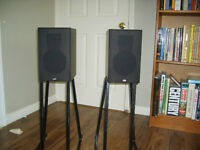 PSB ALPHA A/V Speakers with stands and cables