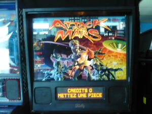 Attack from Mars 1996 Pinball, machine à boule, jeux arcade