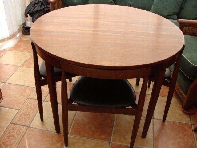 Danish Teak Dining Table Chairs Designed By Hans Olsen