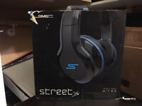 BRAND NEW SMS Audio Street by 50 Cent Wired on Ear Headphones Black