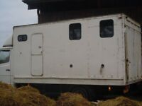 merc 609d 1972 conversion to horse box