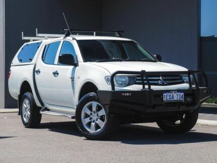 2009 Mitsubishi Triton MN MY10 GLX Double Cab White Solid 4 Speed Automatic Utility Osborne Park Stirling Area Preview