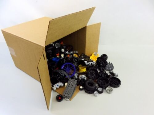 7 Lb Bulk Lot of Assorted Loose LEGO Wheels and Rubber Tires - LOT