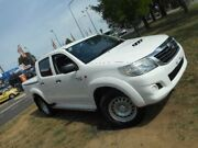 2013 Toyota Hilux KUN26R MY12 SR (4x4) White 4 Speed Automatic Dual Cab Pickup Belconnen Belconnen Area Preview