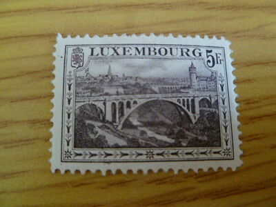 Luxembourg 5Fr mounted mint - catalogue £60 - Ref CL5