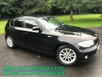 2008 BMW 118D SE ALLOYS AIR CON PRIVACY GLASS FINANCE FROM 107 PER MONTH MOT TO FEB MAY PART EXCHANG