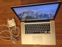 """Apple MacBook Pro 15"""" 2011 i7 8GB RAM 256GB SSD w/1TB HDD Good Condition Heathrow £550"""