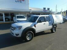 2010 Ford Ranger PK XL Crew Cab Cool White 5 Speed Automatic Cab Chassis Alexandra Headland Maroochydore Area Preview