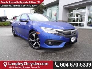 2016 Honda Civic Touring *ACCIDENT FREE*ONE OWNER*LOCAL BC CAR*