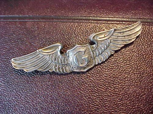 REPRO STERLING WWII USAAF GLIDER PILOT WINGS PIN