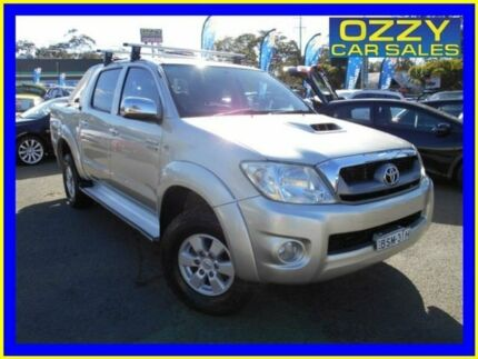 2010 Toyota Hilux KUN26R 09 Upgrade SR5 (4x4) Sterling Silver 4 Speed Automatic Dual Cab Pick-up Penrith Penrith Area Preview