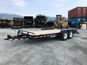 NEW 18' HEAVY DUTY 14,000lb EQUIPMENT TRAILER MEGA RAMP