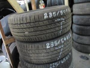 235/50 R18 GOODYEAR EAGLE USED TIRE (SET OF 2) - 85% TREAD