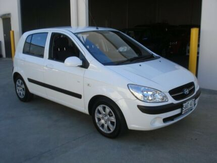 2009 Hyundai Getz TB MY09 SX White 5 Speed Manual Hatchback Croydon Charles Sturt Area Preview