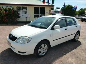 2004 Toyota Corolla ZZE122R Ascent White 5 Speed Manual Sedan Townsville Townsville City Preview