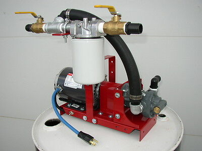New Wastefuel Oil Transfer Pumpbiodieselwvodiesel10 Gpm10 Micron13 Hp