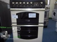 EX-DISPLAY CREAM/BLACK 60 WIDE HOTPOINT FREESTANDING COOKER REF: 13237