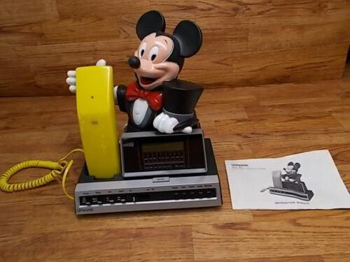 Vintage Mickey Mouse Telephone / Radio /  Alarm Clock -  Disney - Unisonic Phone