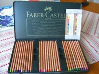 1 box of 60 FABER CASTELL PITT PASTEL PENCILS USED GOOD CONDITION