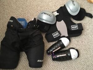 Assorted hockey gear