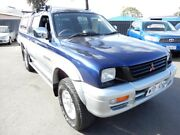 2001 Mitsubishi Triton MK MY02 GLS Double Cab Blue and Silver 5 Speed Manual Utility Enfield Port Adelaide Area Preview