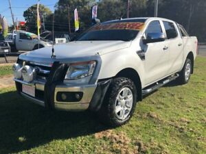 2013 Ford Ranger PX XLT 3.2 (4x4) White 6 Speed Manual Dual Cab Utility Clontarf Redcliffe Area Preview