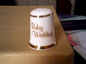 RUBY WEDDING THIMBLE