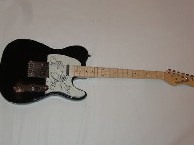 SWMRS SIGNED ELECTRIC GUITAR COLE BECKER ALL 4 POP PUNK VERY RARE JSA COA
