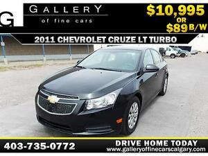 2011 Chevrolet Cruze LT Turbo $89 bi-weekly APPLY NOW DRIVE NOW
