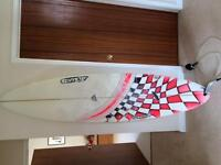 Adams Surf Board with leash and bag