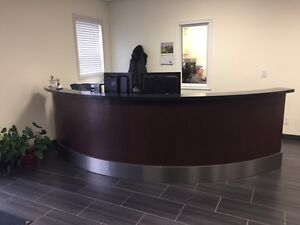 Beautiful Brown Reception Desk