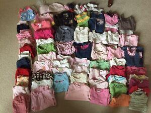 87 Piece Baby Girl Wardrobe 3-6 Months