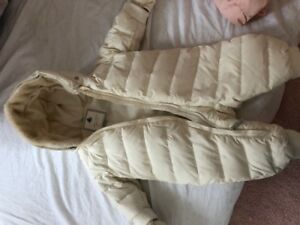 Designer baby winter all in one down filled coat