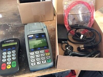 First Data Fd50 Credit Card Terminal With Pin Pad And Power Supply