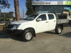2016 Isuzu D-MAX TF MY15.5 SX (4x4) White 5 Speed Manual Crew Cab Chassis Tuncurry Great Lakes Area Preview