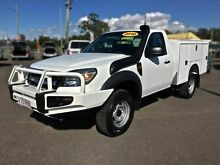 2010 Ford Ranger PK XL, Cab Chassis White Manual Utility Wacol Brisbane South West Preview