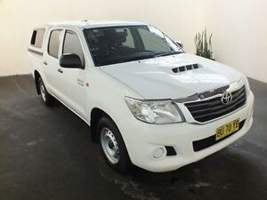 2014 Toyota Hilux KUN16R MY12 SR Glacier White 5 Speed Manual Dual Cab Pick-up Clemton Park Canterbury Area Preview
