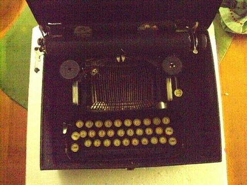 Antique Corona folding Typewriter in Case L.C. Smith & Corona Aldwych London