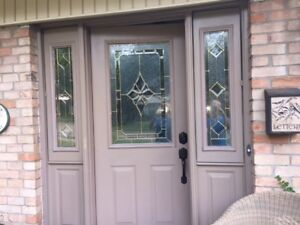 Entrance door insert  window and matching side windows