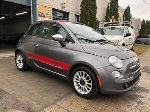 2012 FIAT 500 CONVERTIBLE (4 CYL)/AUT/AC/CUIR/MAGS/GR-ELECT!!