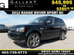 2012 Range Rover Sport 4WD $289 bi-weekly APPLY NOW DRIVE NOW